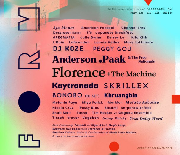 Form Arcosanti Reveals 2019 Lineup With Florence Anderson