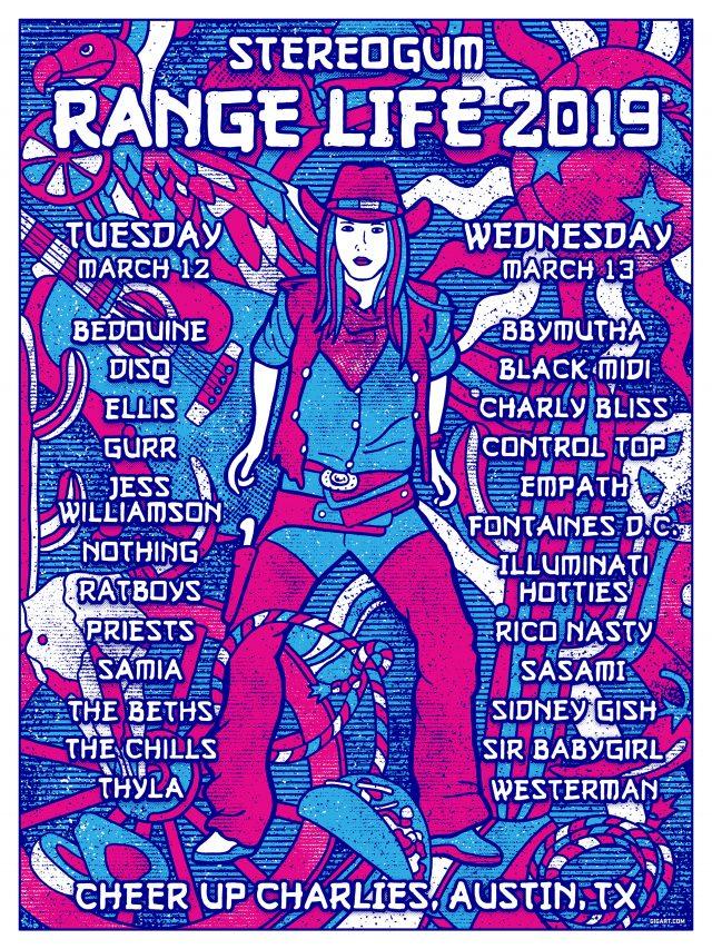 Stereogum SXSW 2019: Range Life Poster & Lineup