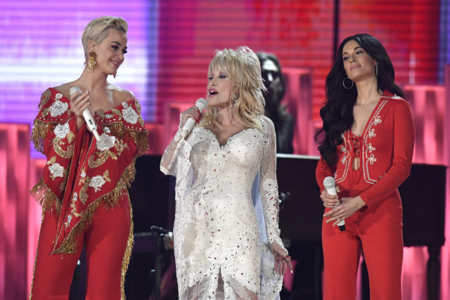 Dolly Parton Grammys Tribute Kacey Musgraves Katy Perry Miley