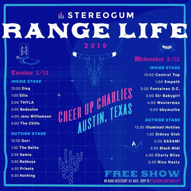 Stereogum Range Life 2019 At SXSW: Lineup & RSVP - Stereogum