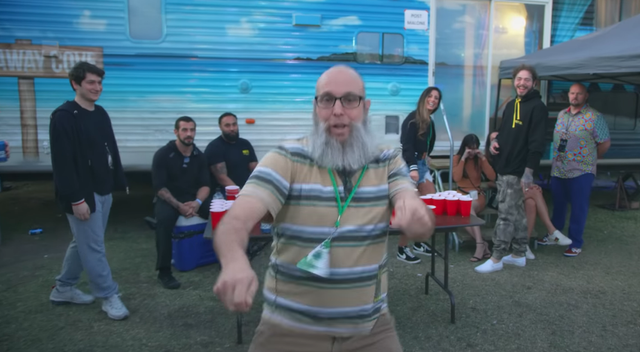 "Post Malone's ""Wow"" Video Stars That Viral Dancing Beardo"