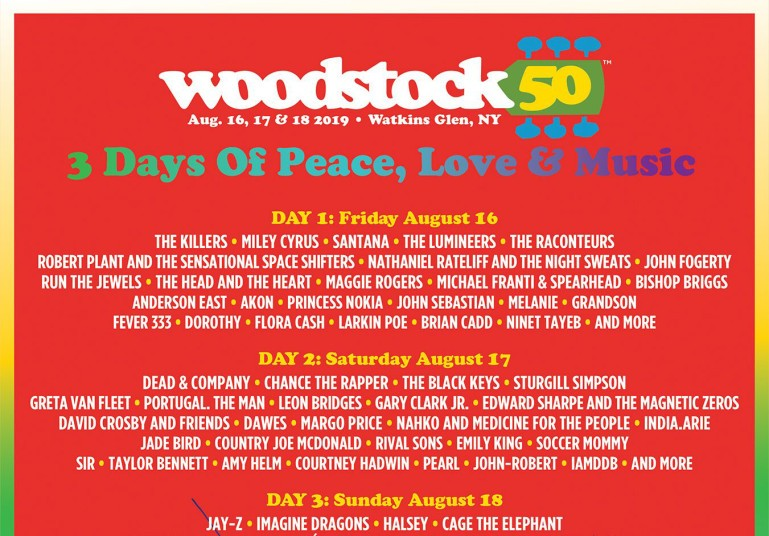woodstock festival 2020 lineup