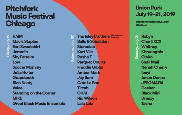 Pitchfork Music Festival Lineup 2019: Robyn, Isley Brothers