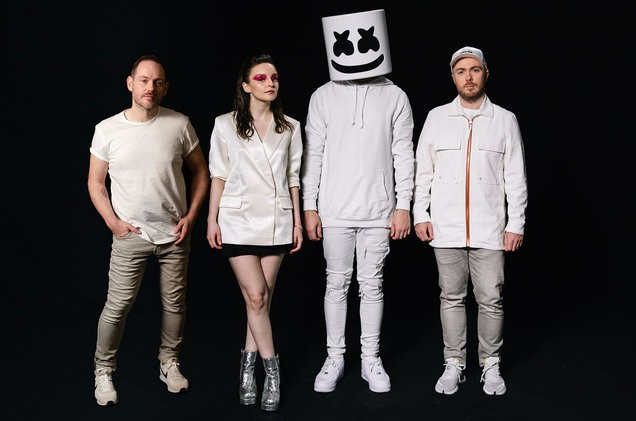 Image result for Here With Me (feat. CHVRCHES) by Marshmello