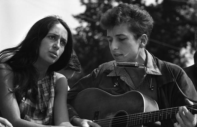 Joan Baez And Bob Dylan At March On Washington