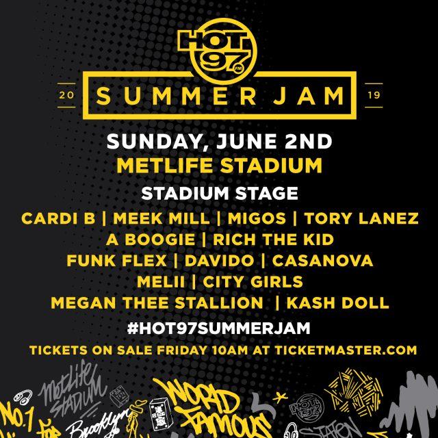 Hot 97 Reveals 2019 Summer Jam Lineup With Cardi B, Meek