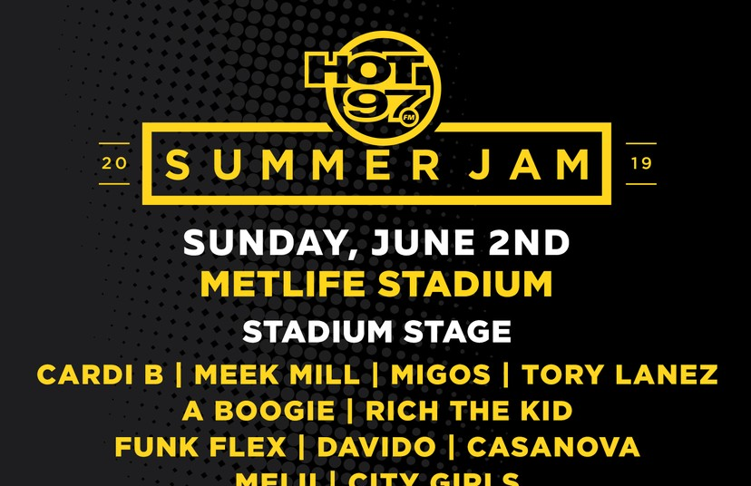 Hot 97 Reveals 2019 Summer Jam Lineup With Cardi B, Meek Mill, Migos