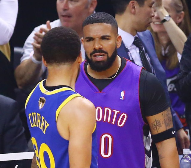 b6fe22f3bee Drake Did Not Calm Down At NBA Finals Game 1 - Stereogum