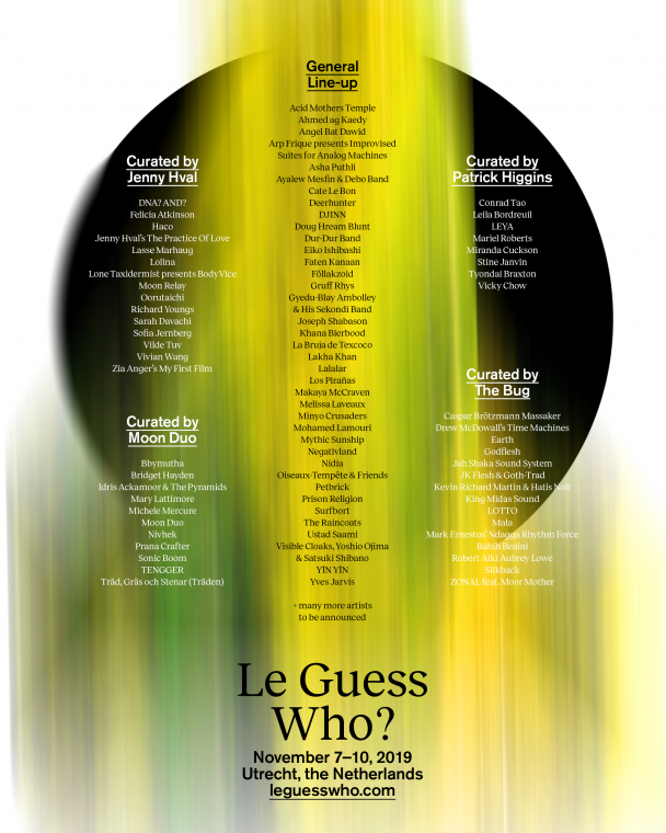Le Guess Who? 2019 Announces Initial Lineup | TYPICA