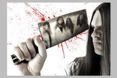 George 'corpsegrinder' Fisher singer from seminal death metal band Cannibal Corpse, shot in a studio in his home city of Tampa, Florida, -;