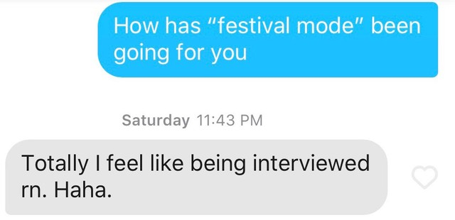 Tinder Is Even Worse At A Music Festival - Stereogum