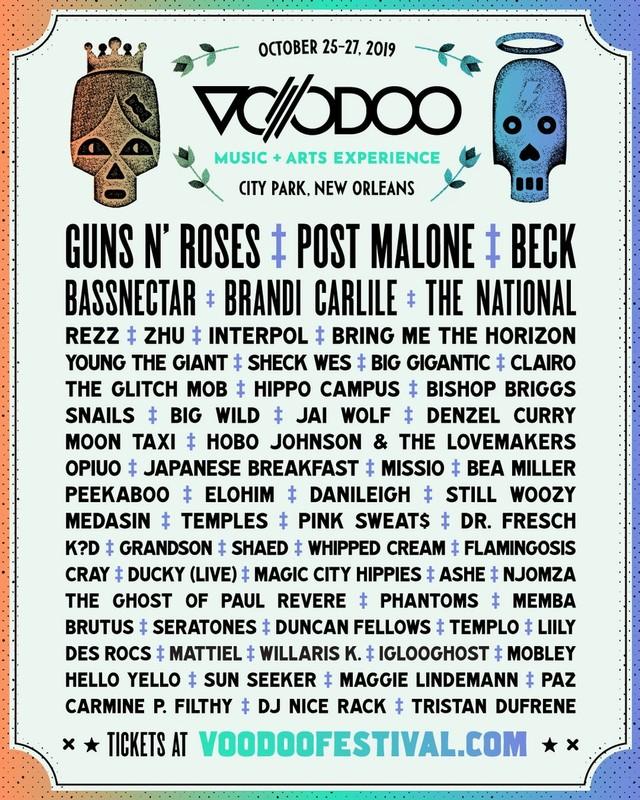 Voodoo Lineup 2019