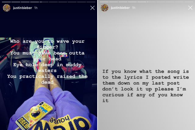 Justin Bieber Instagrams Tool Lyrics - Stereogum