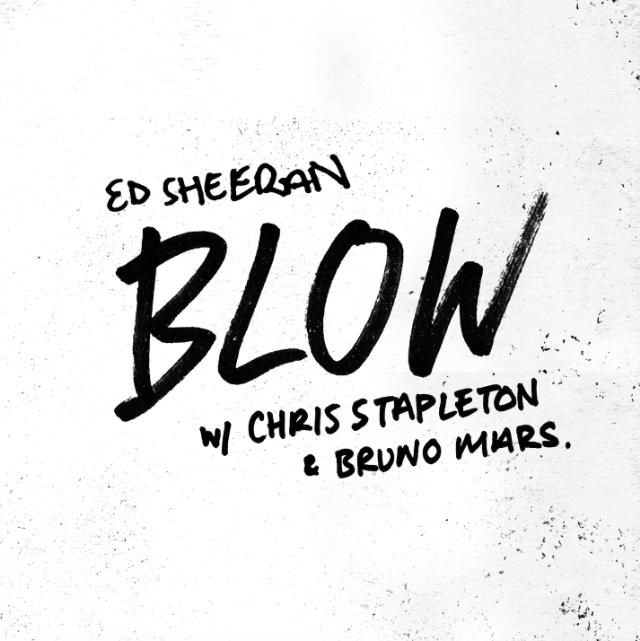 "Ed Sheeran, Bruno Mars, Chris Stapleton Team Up On ""Blow"