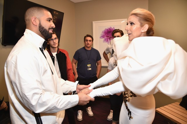 Céline Dion begs Drake not to tattoo her face on his body
