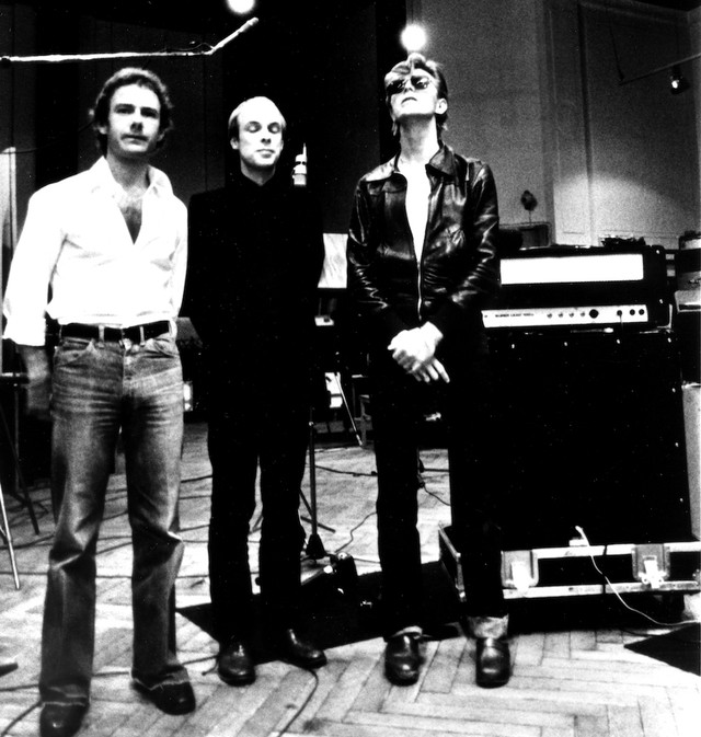 Robert Fripp Brian Eno and David Bowie