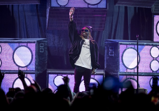 Blink 182 and Lil' Wayne perform at the Xcel Energy Center