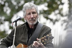 Roger Waters performs during the Don't Extradite Assange