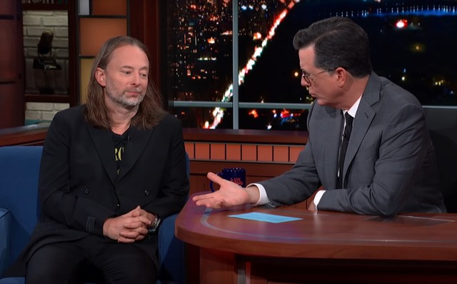 Thom-Yorke-and-Stephen-Colbert