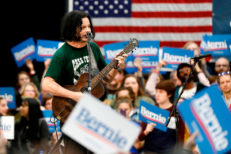 Jack White performs at Bernie Sanders rally