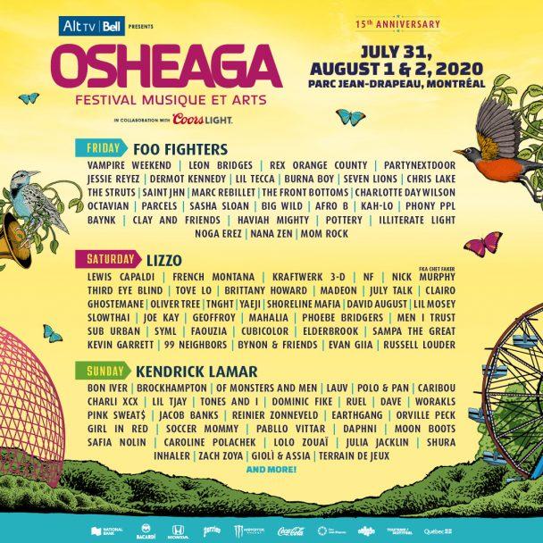 Osheaga 2020 Lineup - Stereogum
