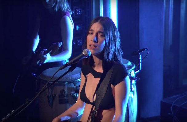 """Watch Haim Perform """"The Steps"""" With Rostam, Sing About Instagram With Jimmy Fallon On The Tonight Show"""