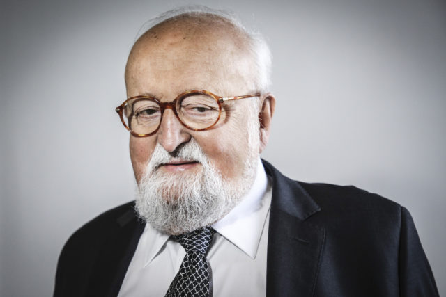 Krzysztof Penderecki at the award ceremony in Krakow