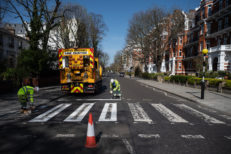 Iconic Abbey Road Crossing Is Repainted During The Coronavirus Pandemic