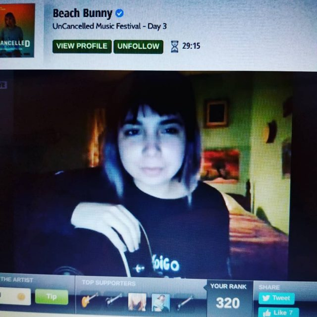 Beach Bunny On StageIt Festival