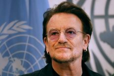 Bono Meets With United Nations Secretary General Antonio Guterres At The U.N.