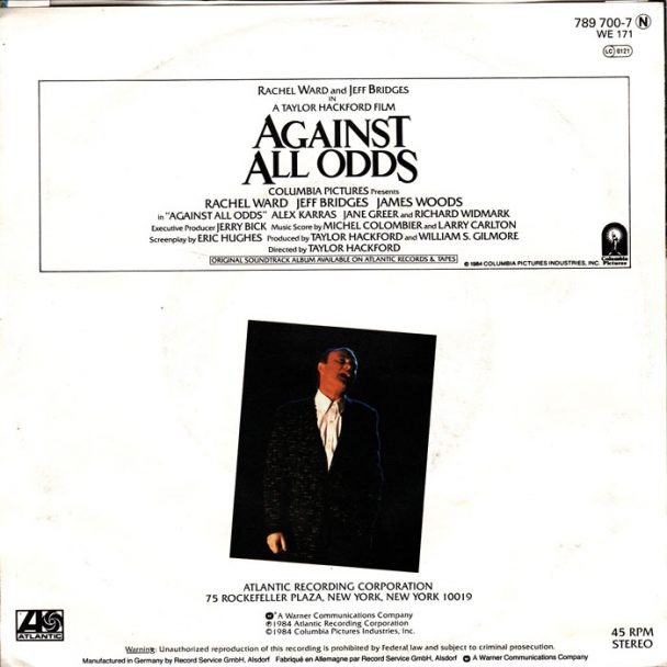 """The Number Ones: Phil Collins' """"Against All Odds (Take A Look At Me Now)"""""""