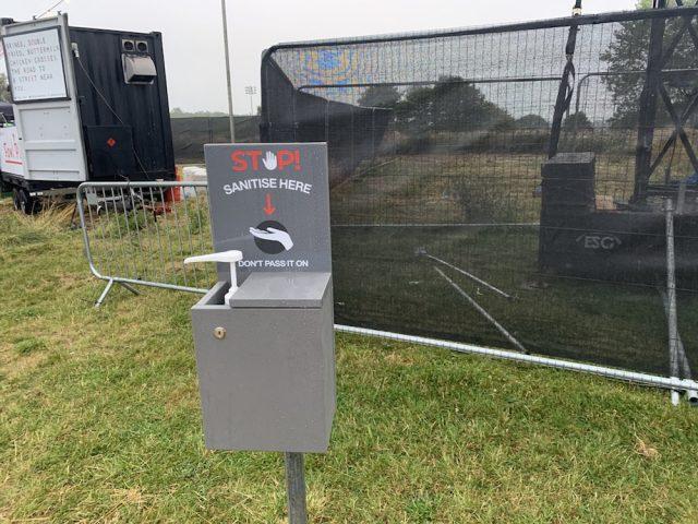 Hand Sanitizer Station At Sam Fender Concert