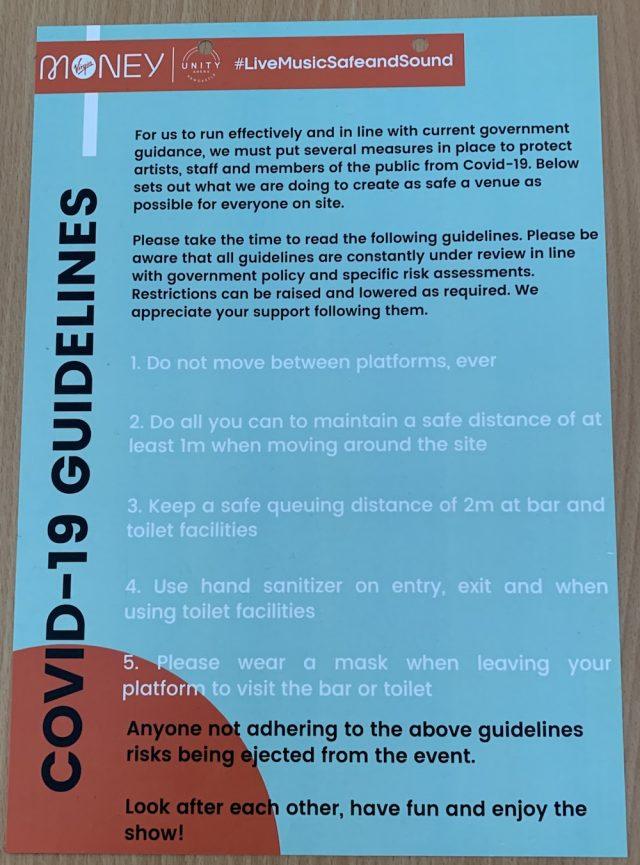 COVID Guidelines At Sam Fender Concert