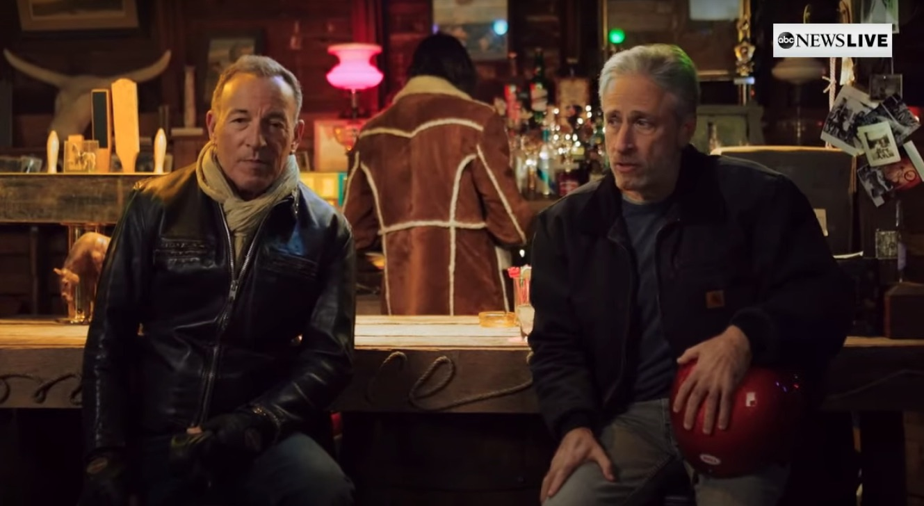 Bruce Springsteen Does Comedy Bit With Jon Stewart & Plays Acoustic Songs  At Virtual Stand Up For Heroes Benefit: Watch - Stereogum