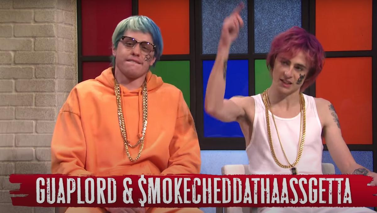 Watch Timothée Chalamet & Pete Davidson As SoundCloud Rappers In An SNL Sketch With Questlove