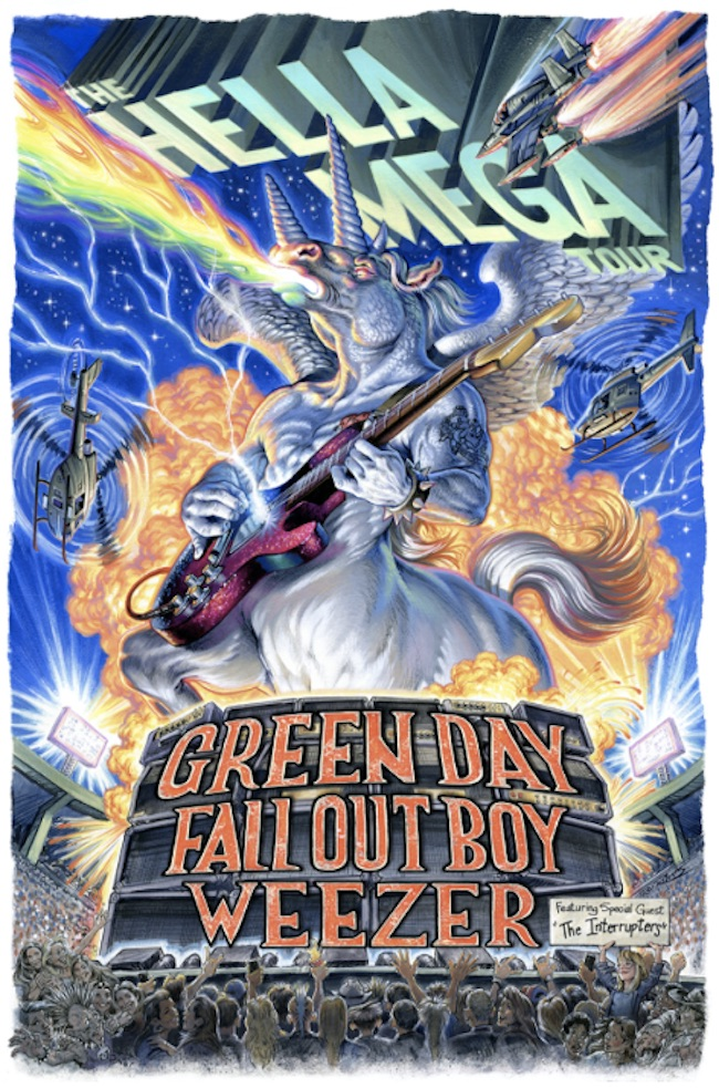 Green Day, Fall Out Boy, & Weezer Announce Rescheduled 2021 Hella Mega Tour