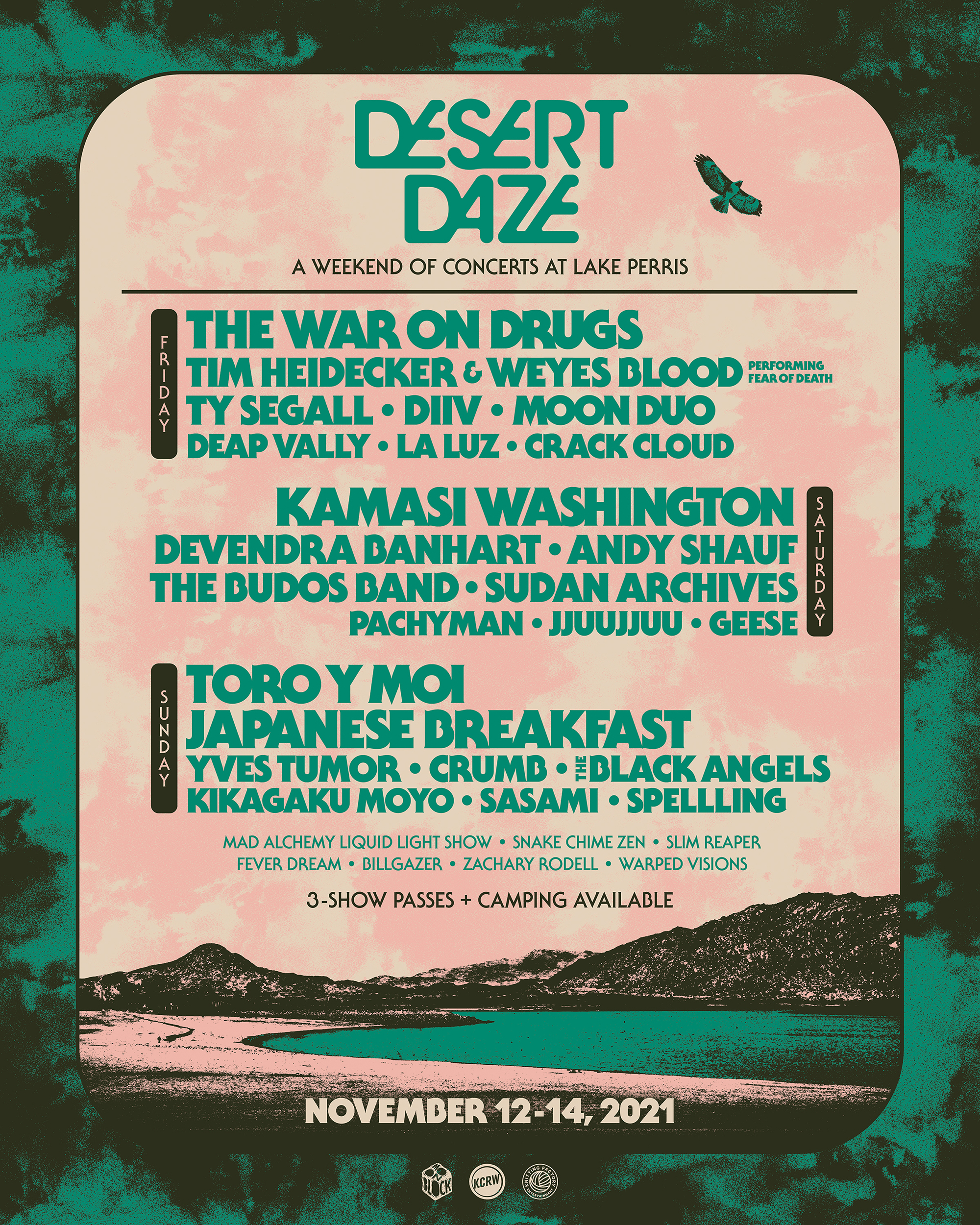 Desert Daze Now Back To One Weekend At Lake Perris With The War On Drugs, Toro Y Moi, Kamasi Washington, & More