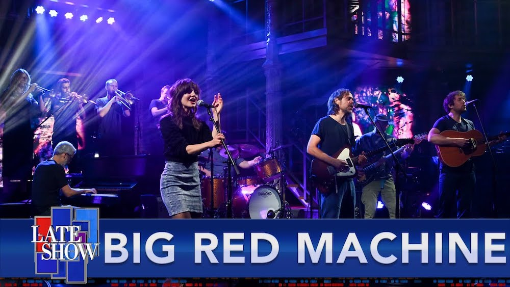 """Watch Big Red Machine Perform """"Phoenix"""" & New Song """"New Auburn"""" With Robin Pecknold & Anaïs Mitchell On Colbert"""