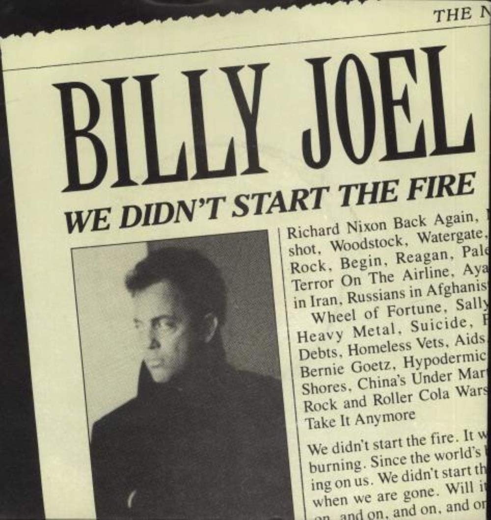 """The Number Ones: Billy Joel's """"We Didn't Start The Fire"""""""