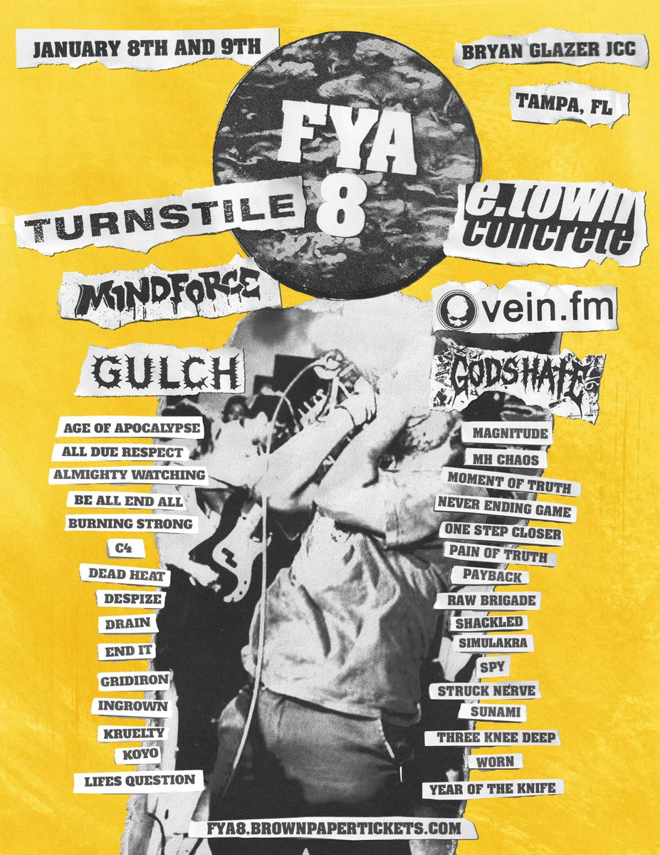 FYA Fest 2022 Has Turnstile, E.Town Concrete, Mindforce, Vein, So Much Hardcore