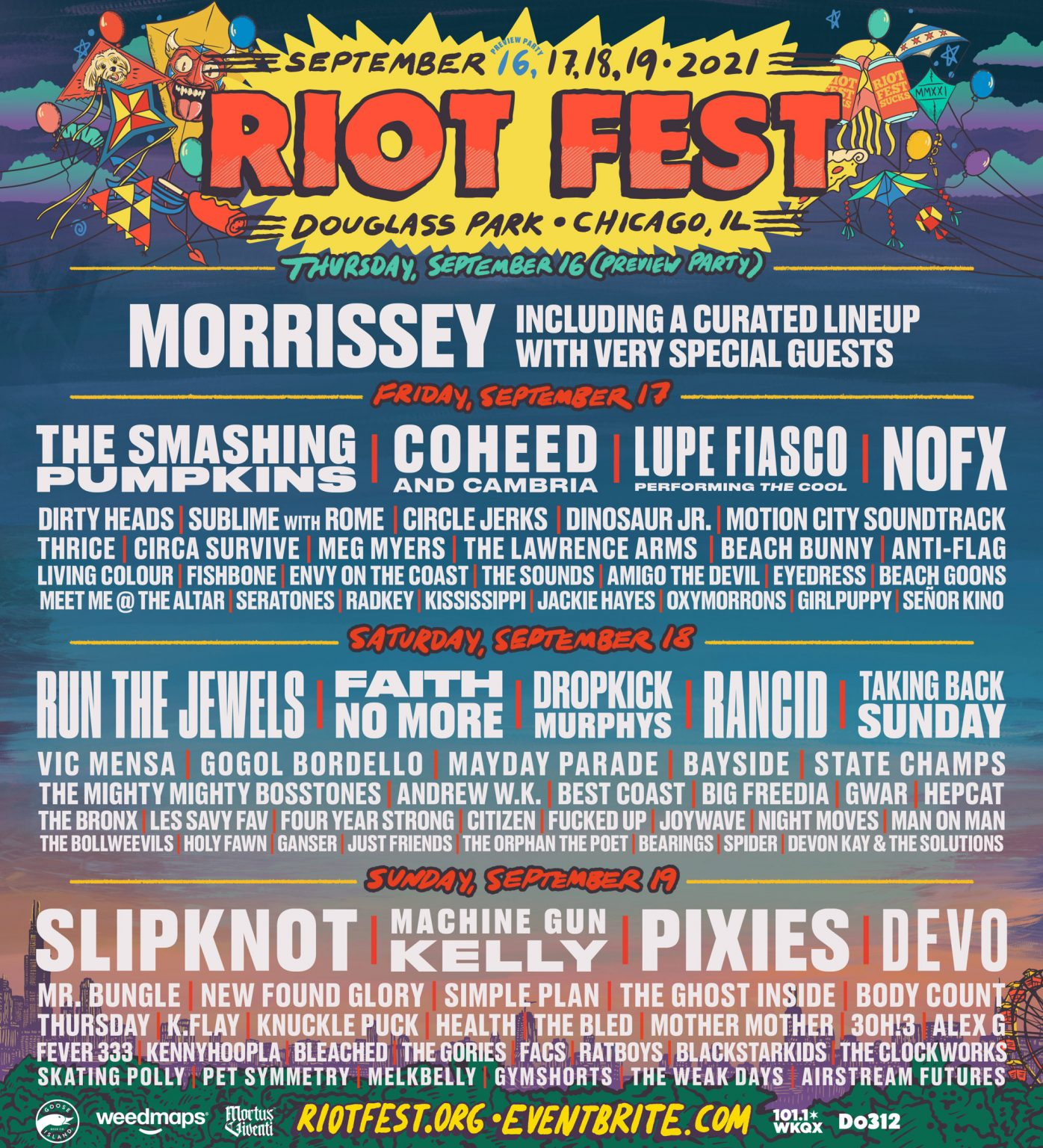 Riot Fest Replaces Nine Inch Nails With Morrissey & Slipknot