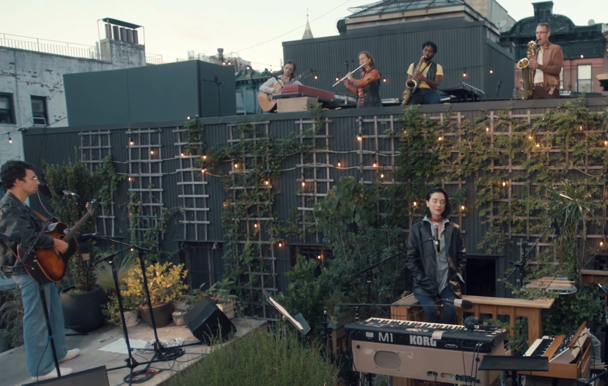 Watch St. Vincent Join Jack Antonoff On The Roof Of Electric Lady Studios