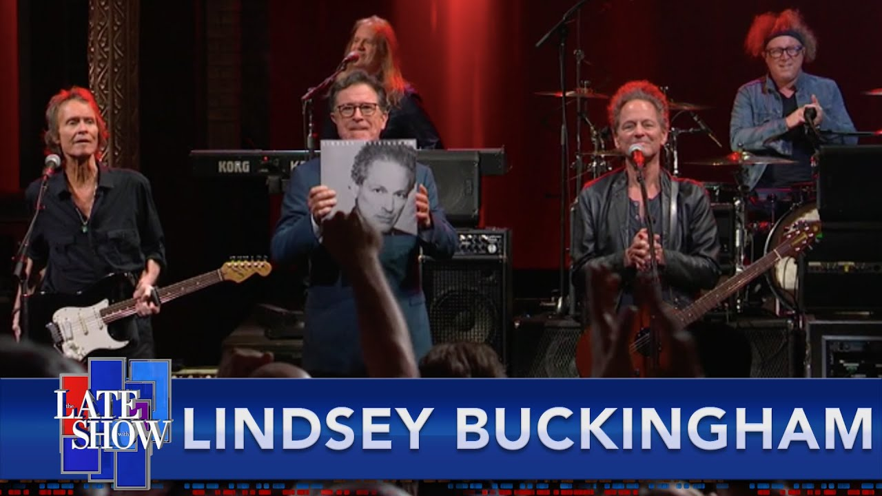 """Watch Lindsey Buckingham Play """"On The Wrong Side"""" On Colbert"""