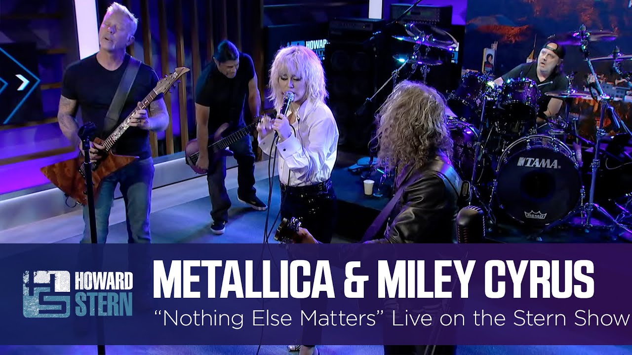 """Watch Miley Cyrus Cover """"Nothing Else Matters"""" With Metallica"""
