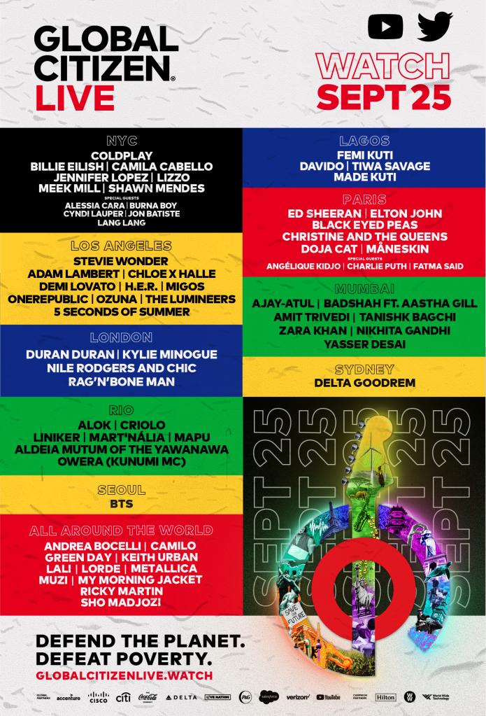 Livestream Global Citizen Fest Feat. Billie Eilish, Fugees, Lorde, The Weeknd, Metallica, & More