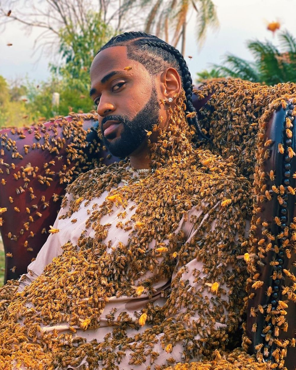 Here's Big Sean Covered In 65,000 Bees