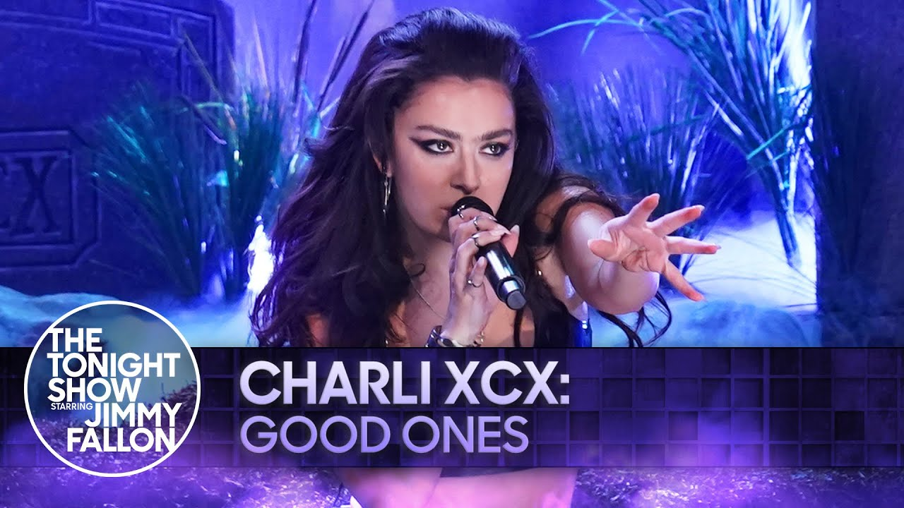 """Watch Charli XCX Crawl Out Of A Grave In A Leather Bikini To Sing """"Good Ones"""" On Fallon"""