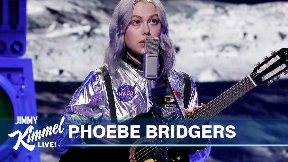 """Watch Phoebe Bridgers Rock An Astronaut Costume To Play A Spaced-Out Version Of """"Moon Song"""" On Kimmel"""