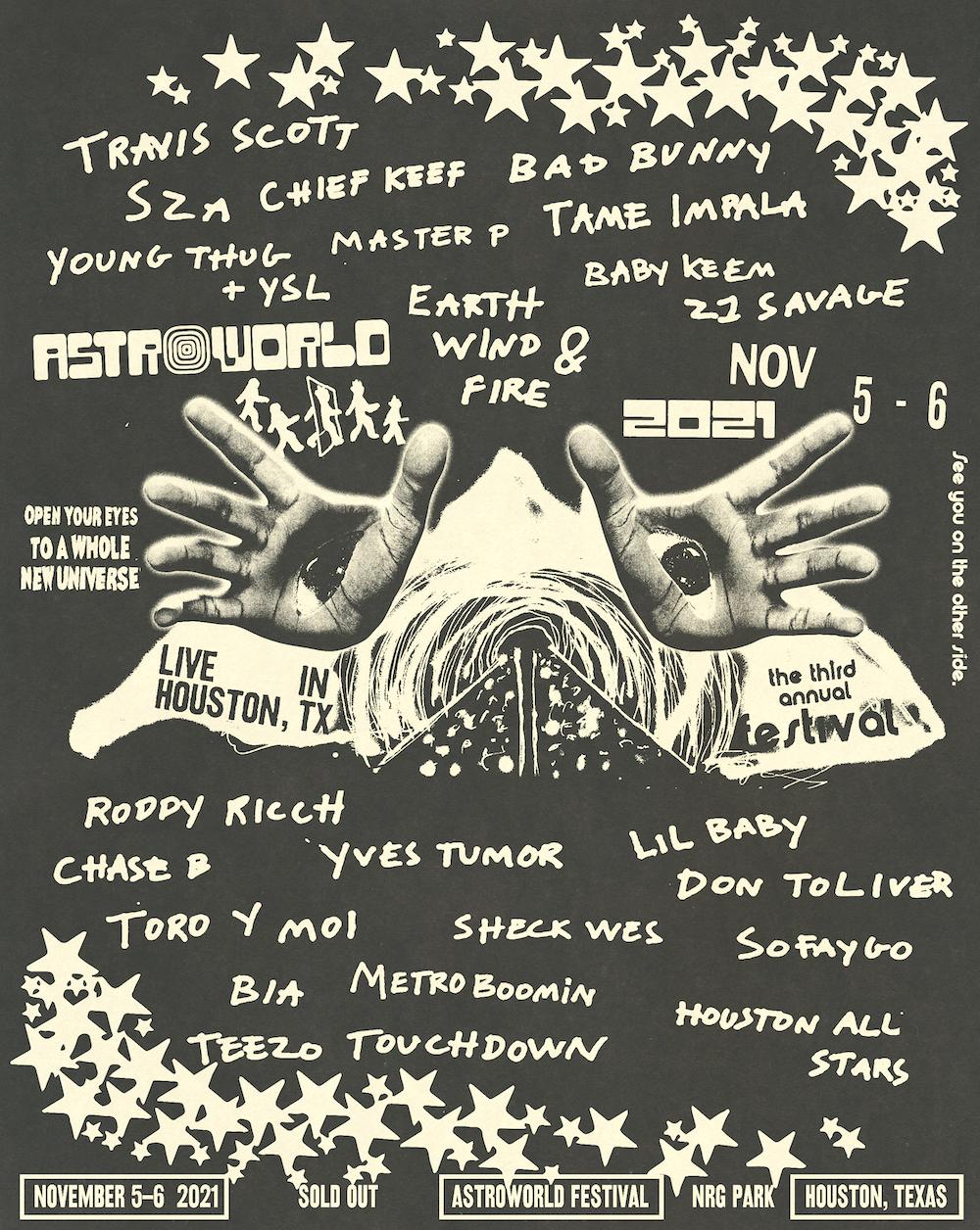 Travis Scott's Astroworld Lineup Announces Tame Impala, Young Thug, Toro Y Moi, & More
